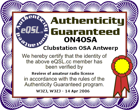 e qsl on4osa certifikaat